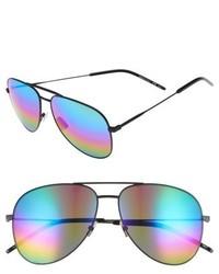 Saint Laurent Classic 59mm Aviator Sunglasses Black Multi