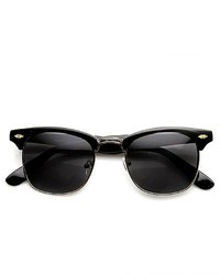 ZeroUV Classic Shaped Half Frame Semi Rimless Horn Rimmed Sunglasses