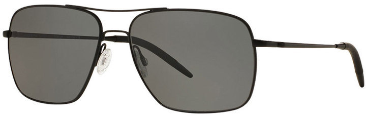 a6dd1d030c3 ... Oliver Peoples Clifton 58 Polarized Sunglasses Black ...