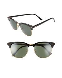 Ray-Ban Clubmaster 55mm Polarized Sunglasses