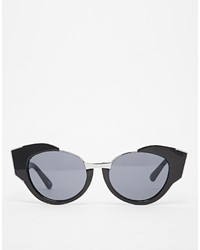 Asos Collection Cat Eye Sunglasses With Exaggerated Cut Away