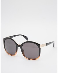 Asos Collection Retro Sandwich Sunglasses In Mixed Frame
