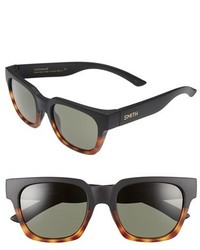 Smith Optics Comstock 52mm Rectangular Sunglasses Black Tortoise Grey Green