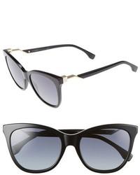 Fendi Cube 55mm Cat Eye Sunglasses Black