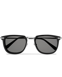 Brioni D Frame Acetate And Silver Tone Sunglasses