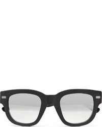 Acne Studios D Frame Acetate Mirrored Sunglasses