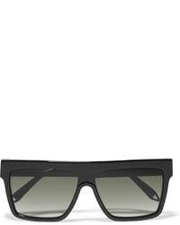Victoria Beckham D Frame Acetate Sunglasses Black