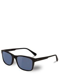 Vuarnet District Medium Rectangular Sunglasses Black