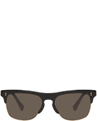 Dolce & Gabbana Dolce And Gabbana Black Semi Rimless Sunglasses