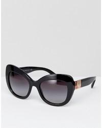 Dolce & Gabbana Dolce Gabanna Classic Cateye Sunglasses In Black