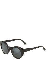 Elizabeth and James Carroll Round Plastic Sunglasses Black
