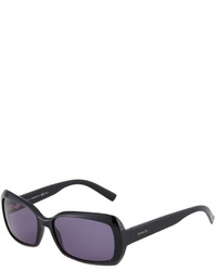 Gucci Embossed Rectangle Acetate Sunglasses Black