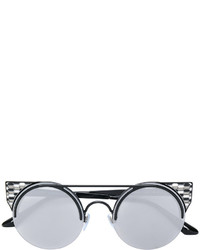 Bulgari Enamelled Round Sunglasses