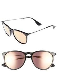 Ray-Ban Erika 54mm Mirrored Sunglasses Black Grey