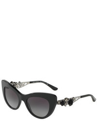 Dolce & Gabbana Flowers Lace Gradient Cat Eye Sunglasses