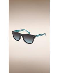 Burberry Foldable Rectangular Frame Sunglasses
