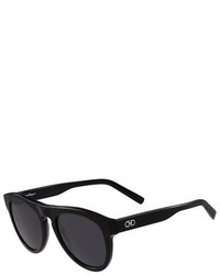Gancini round acetate sunglasses medium 713279
