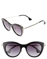 Alice + Olivia Gansevoort 48mm Special Fit Cat Eye Sunglasses Black