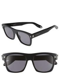 Givenchy 55mm Polarized Retro Sunglasses Black