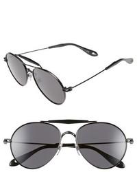Givenchy 56mm Aviator Sunglasses Palladium