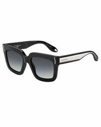 Givenchy Square Metal Band Sunglasses Black