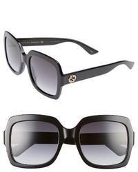 Gucci 54mm Square Sunglasses Black Grey