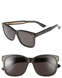Gucci 55mm Flip Up Sunglasses Black Grey
