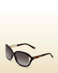 Gucci Black Bamboo Sunglasses