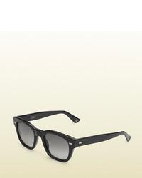 Gucci Havana Acetate Round Frame Sunglasses