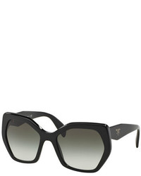 Prada Heritage Hexagonal Sunglasses Black