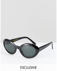 Reclaimed Vintage Inspired Round Sunglasses In Black