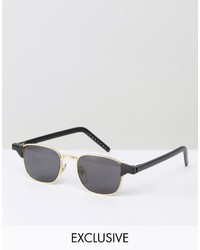 Reclaimed Vintage Inspired Square Sunglasses In Black