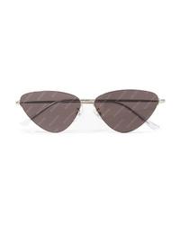 Balenciaga Invisible Cat Eye Silver Tone Sunglasses