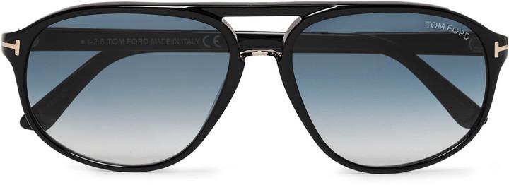 bcd9d455e1be ... Tom Ford Jacob Aviator Style Acetate Sunglasses ...