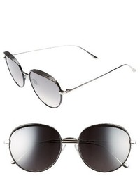Jimmy Choo Ello 56mm Round Sunglasses Black Palladium