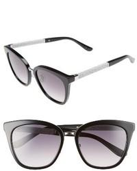 Jimmy Choo Fabry 53mm Sunglasses Black