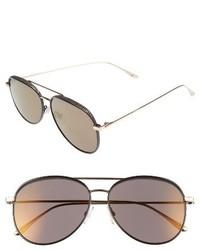 Jimmy Choo Reto 57mm Sunglasses Shiny Black Grey Silver