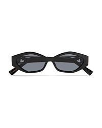 Le Specs Jordan Askill Petit Panthre Cat Eye Acetate And Gold Tone Sunglasses