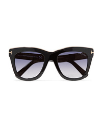 Tom Ford Julie D Frame Acetate And Gold Tone Sunglasses