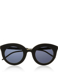 Kaibosh Kaibosh Song Of The Siren Cat Eye Acetate Sunglasses Black