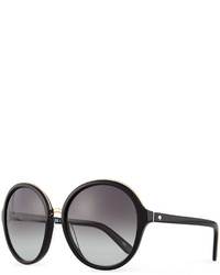 Kate Spade New York Bernadette Round Sunglasses Black