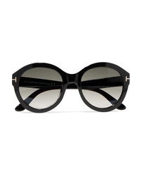 Tom Ford Kelly Round Frame Acetate Sunglasses