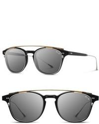 Shwood Kennedy 50mm Polarized Sunglasses Black Iron Resin Grey