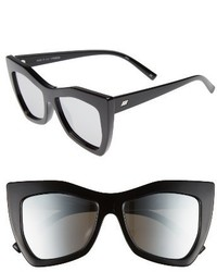 Le Specs Kick It 54mm Sunglasses Black