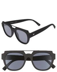 Le Specs La Habana 52mm Retro Sunglasses Black Rubber