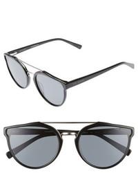Ted Baker London Retro 57mm Polarized Sunglasses Black