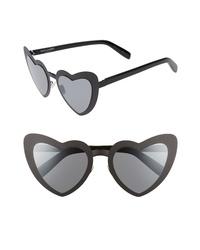Saint Laurent Loulou 55mm Heart Shaped Sunglasses