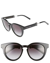 Marc Jacobs 50mm Round Sunglasses Black