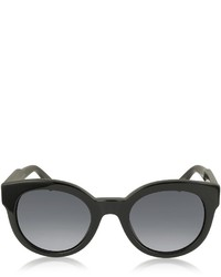 Marc Jacobs Mj 588s Black Touch Round Acetate Sunglasses