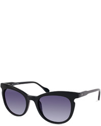 Derek Lam 10 Crosby Marrakech Rounded Square Acetate Sunglasses Black